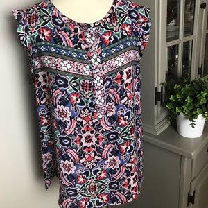 Ann Taylor Loft Multiple Color Top Sz L